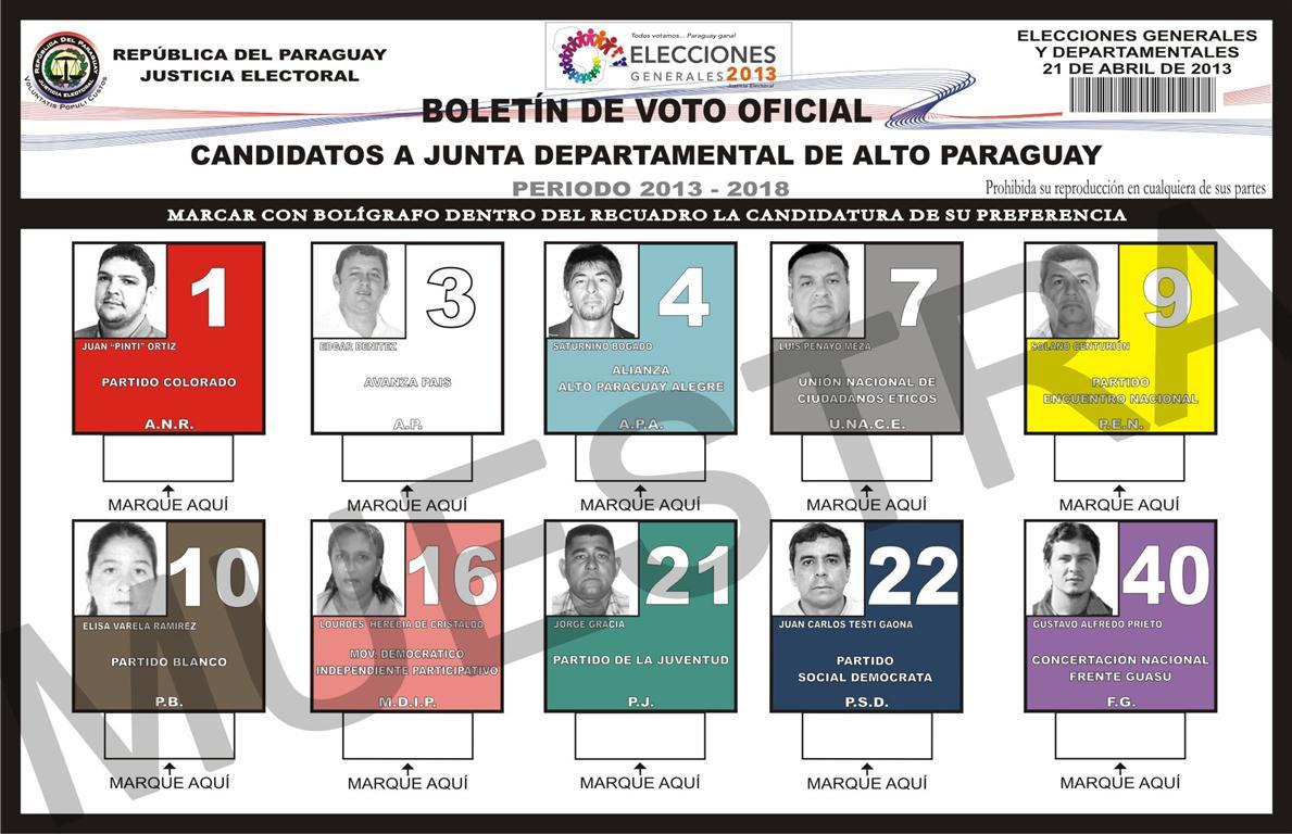 Boletin para Junta Departamental