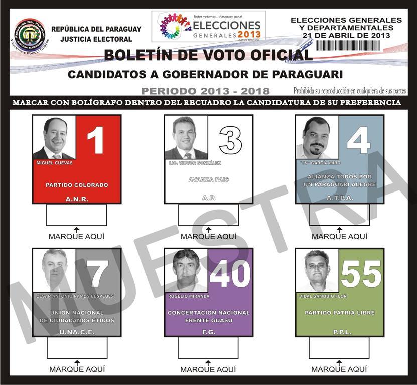 Boletin para Gobernadores