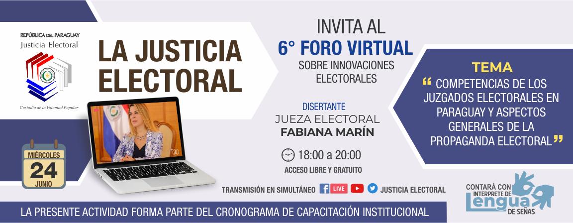 Competencia de los Juzgados Electorales - Foro 6